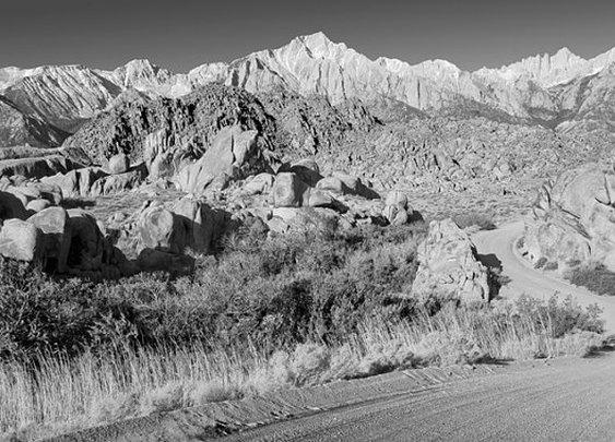 Black and White Photograph Landscape Art Road by MurrayBolesta