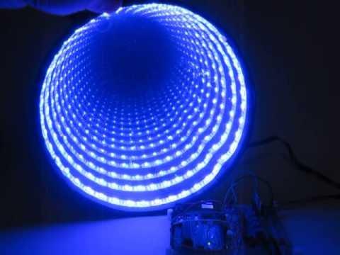 Diy arduino rgb led infinity mirror gentlemint for Miroir infini led