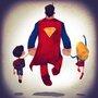 Super Families, Cute Illustrations of Comic Book Superhero Families