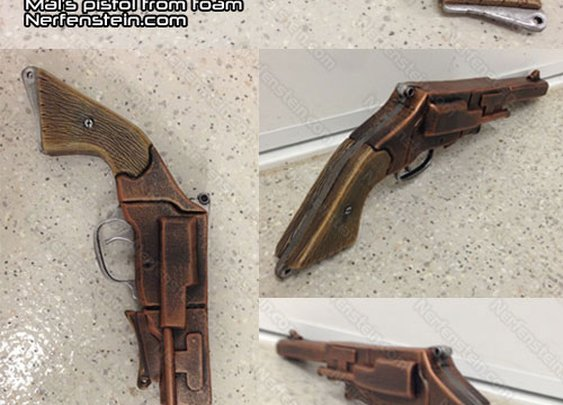 Captain Mal's pistol prop from Firefly – Foamidable by prop maker / artist Nerfenstein