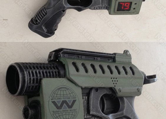 Aliens: Colonial Marines Nerf Nite Finder Pulse Pistol by Nerfenstein