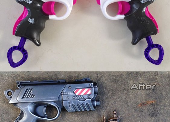 Nerf Rebelle Power Pair Sneak Attack mods by nerf modder Nerfenstein