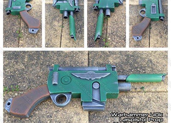 Warhammer 40K Imperial Laspistol scratch built prop gun by Nerfenstein