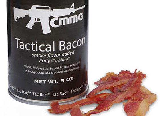 Tac Bac: The Tactical Canned Bacon For Your End Of The World Scenario