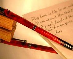 Pen stylus in swirling red by Hope & Grace Pens