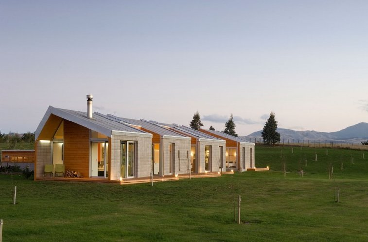 Modern Eco-Friendly Home Design in countryside New Zealand ...