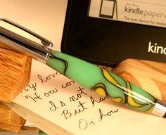 Telescoping Stylus Pen in handcrafted green by Hope & Grace Pens