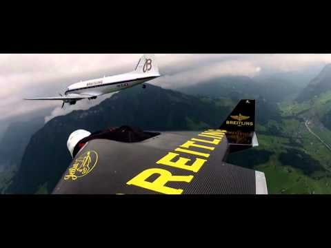 "Eye To Eye – Yves ""Jetman"" Rossy flies in formation with the Breitling DC-3"