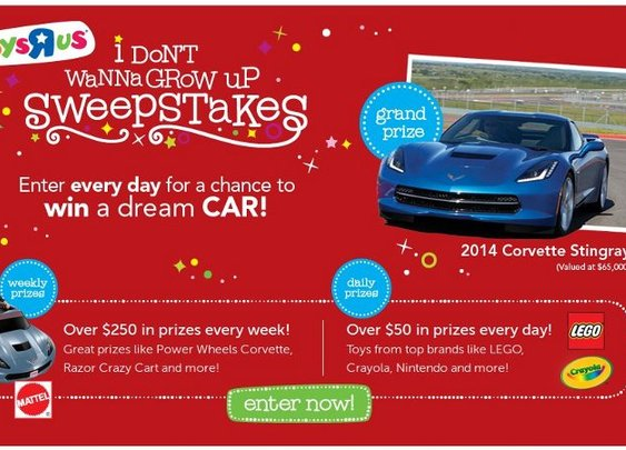 ToysRUs I Don't Wanna Grow Up Sweepstakes!