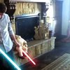 Darth Baby's Lightsaber - YouTube
