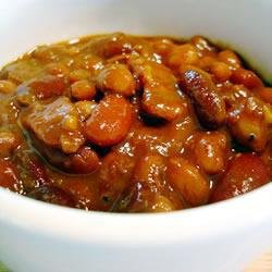 Savory Baked Beans With Bacon