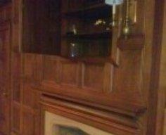 Secret Cabinet Behind Panel Above Fireplace   StashVault