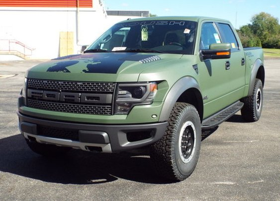 2013 Custom Olive Drab Roush Ford Raptor