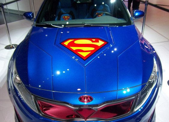 Kia And DC Entertainment's Superman Themed Optima