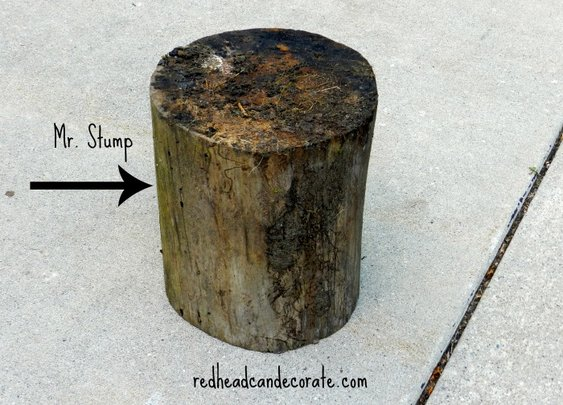 DIY Stump Endtable
