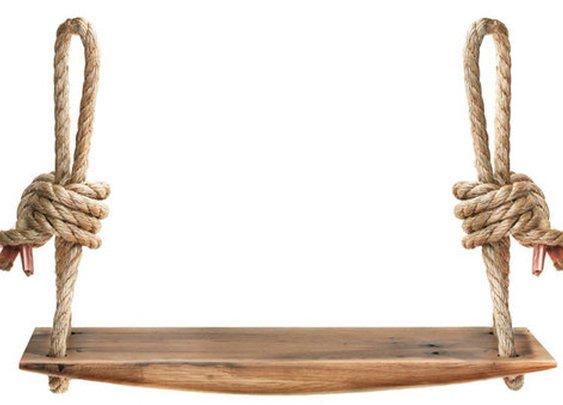 Handmade Carved Oak Rope Swing - Kaufmann Mercantile