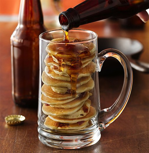 Beer & Bacon Mancakes at werd.com
