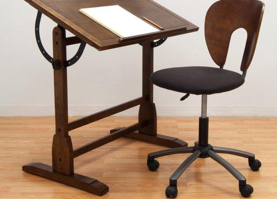 Studio Designs Vintage Drafting Table - Rustic Oak - Drafting & Drawing Tables at Hayneedle