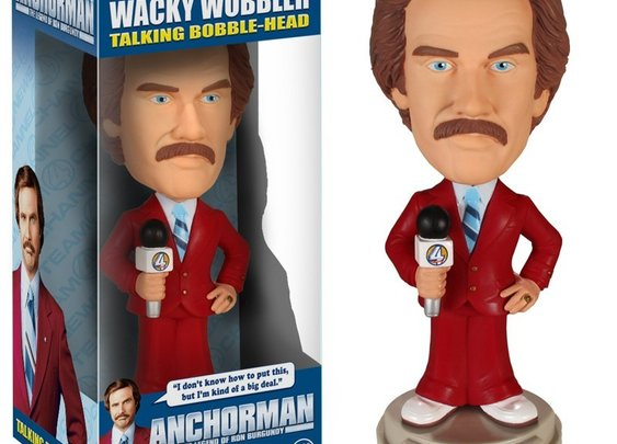 Anchorman: The Legend of Ron Burgundy Talking Bobble Head