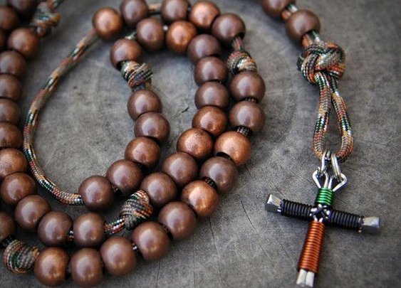 Outdoors Paracord Rosary | CordBands.com