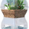 Aqualibrium uses fish to grow plants, and plants to grow fish