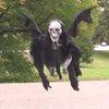 Comedian builds flying reaper, terrifies people