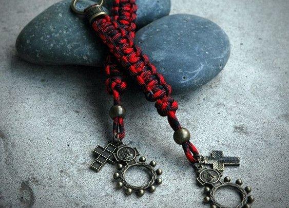 Guardian Rosary Ring Lanyard / Keyring