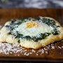 spinach and egg pizzettes | smitten kitchen