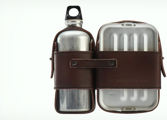Mens Leather and Tin Lunch Box | Cool Material