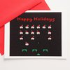 8 Bit Happy Holidays card set of 4 by blackbirdandpeacock on Etsy