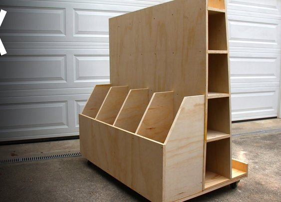 Build a lumber storage cart - YouTube