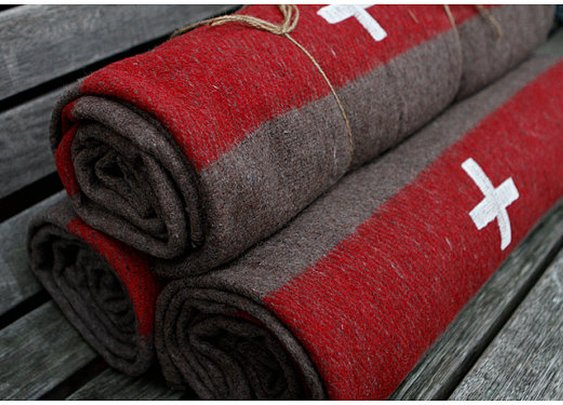 Swiss Army wool blanke