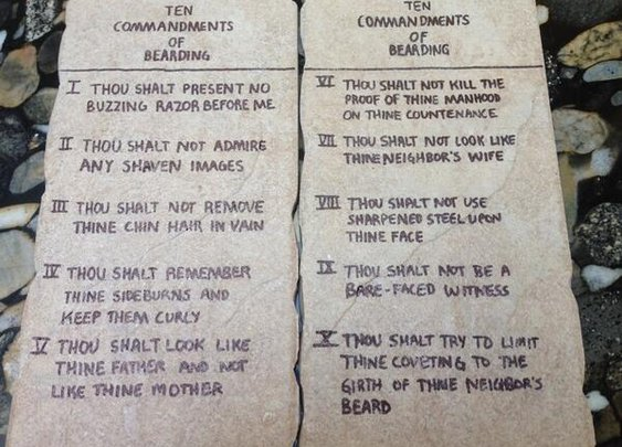 Beard 10 Commandments