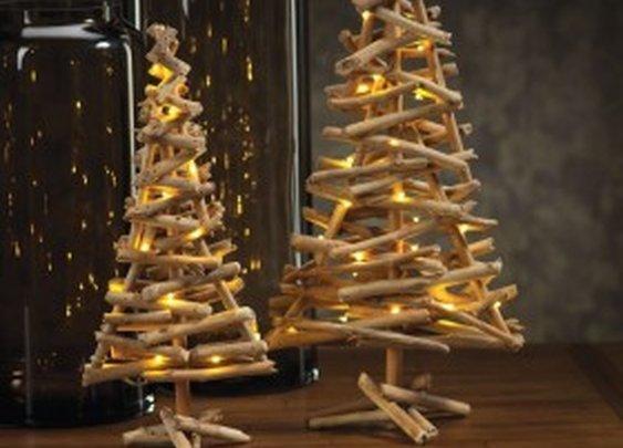 Twig Tree with Lights