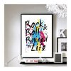 "Rock & Roll Ruined / Saved My Life - 11"" x 17"" Wall Art"