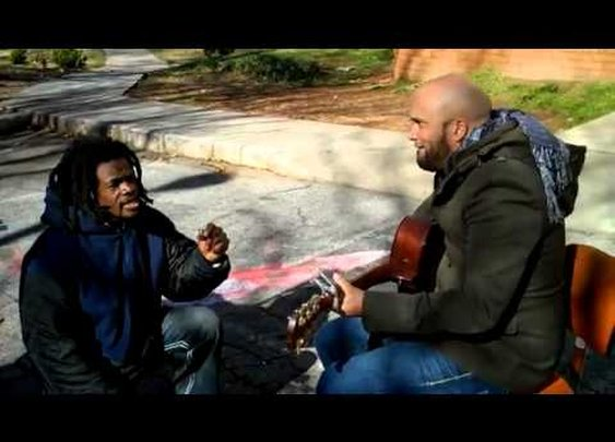 Homeless Man Joins Carlos Whittaker for a Very Moving Performance - YouTube