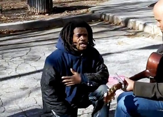 When a Homeless Man Joins Your Music Video + Does Something Like This–Just Go with It – FaithIt.com