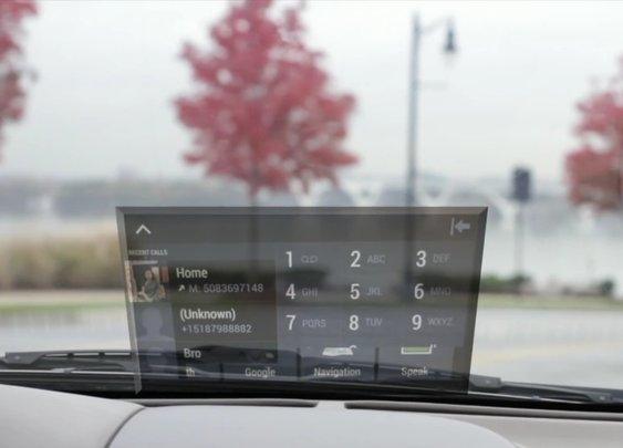 HeadsUP - A Transparent Smart-phone Integrated Windshield Display - BonjourLife