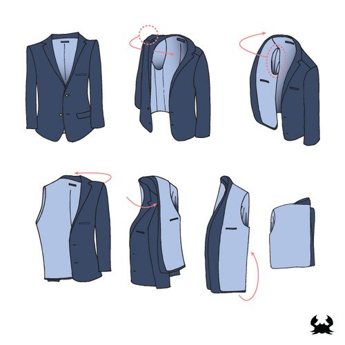 how to pack a blazer in a suitcase