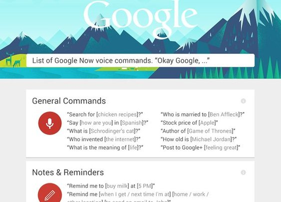 Learn the secrets of Google Now voice commands (infographic) | How To - CNET