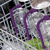 Keep wine glasses safe in the dishwasher
