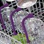 Keep wine glasses safe in the dishwasher