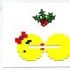 Videogame Christmas card arcade 8 bit by blackbirdandpeacock