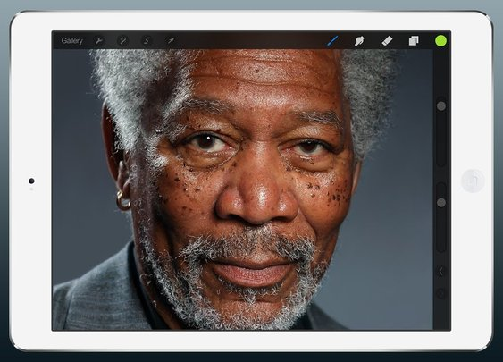 iPad Painting of Morgan Freeman (not a photograph)