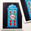 Doctor Who Christmas Cards set of 4 dr. who by blackbirdandpeacock