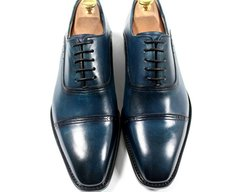 Navy Blue , colored by hand , made-to-measure