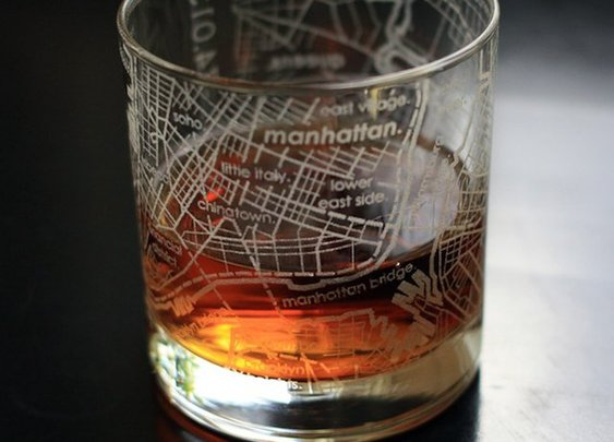 On The Rocks Travel Glass