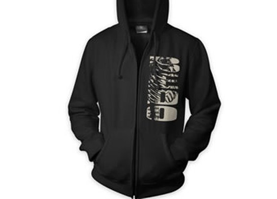Skeleton Full Zip Up Hoodie