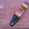 UPCYCLED RECLAIMED Leather Key Chain w/Clip