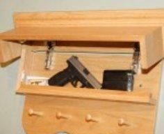 Hidden Compartment Coat Rack/Shelf   StashVault